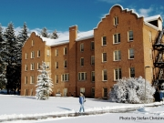 Montana State University Campus during Winter