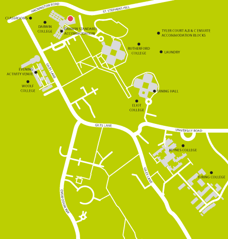 Embassy Canterbury Living Map