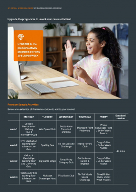 EC Virtual Young Learners Spring Programmes